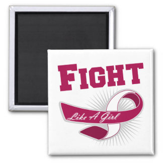 Throat Cancer Sporty Fight Like A Girl Magnets
