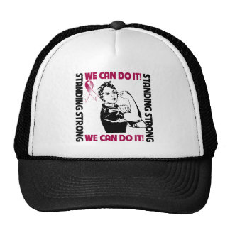 Throat Cancer Standing Strong We Can Do It Hats