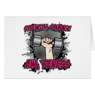 Throat Cancer Strength Courage Men Greeting Card