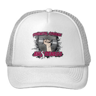 Throat Cancer Strength Courage Men Mesh Hats