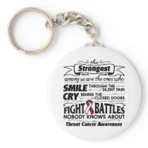 Throat Cancer Strongest Among Us Basic Round Button Keychain
