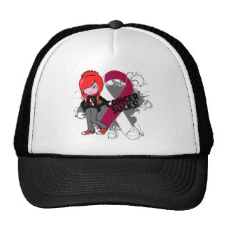 Throat Cancer Sucks Trucker Hat