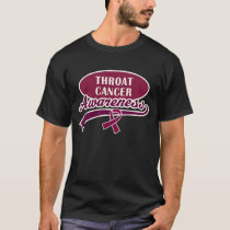 Throat Cancer Support Walk T shirt