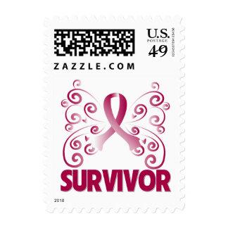 Throat Cancer Survivor Butterfly Stamp