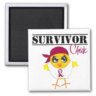 Throat Cancer Survivor Chick Magnets