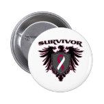 Throat Cancer Survivor Crest Button