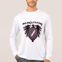 Throat Cancer Survivor Crest T-Shirt