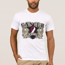 Throat Cancer Survivor Mens Heraldry T-Shirt