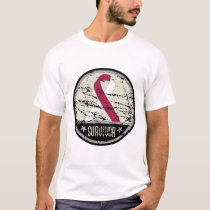 Throat Cancer Survivor Mens Vintage T-Shirt