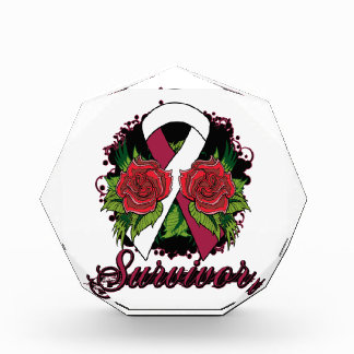 Throat Cancer Survivor Rose Grunge Tattoo Award