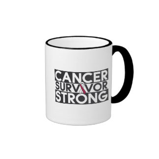 Throat Cancer Survivor Strong Ringer Coffee Mug