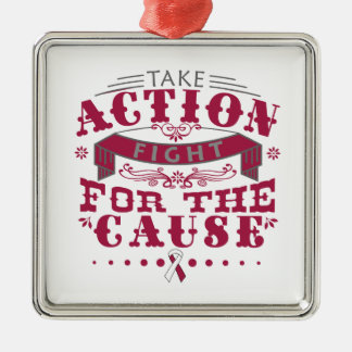 Throat Cancer Take Action Fight For The Cause Ornament