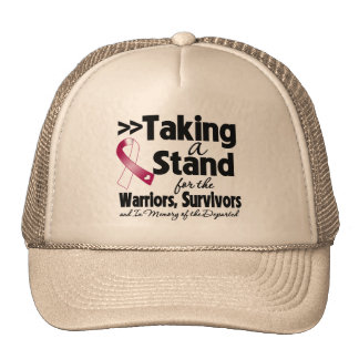 Throat Cancer Taking a Stand Tribute Trucker Hats