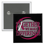 Throat Cancer Together We  Make A Difference Pin