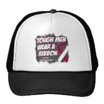 Throat Cancer Tough Men Wear A Ribbon Trucker Hat