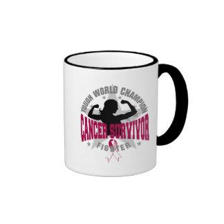 Throat Cancer Tough Survivor Ringer Coffee Mug