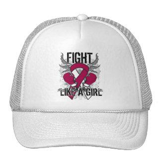 Throat Cancer Ultra Fight Like A Girl Trucker Hat