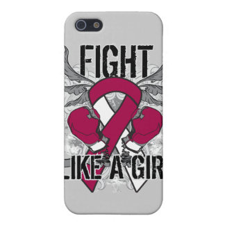 Throat Cancer Ultra Fight Like A Girl Case For iPhone 5