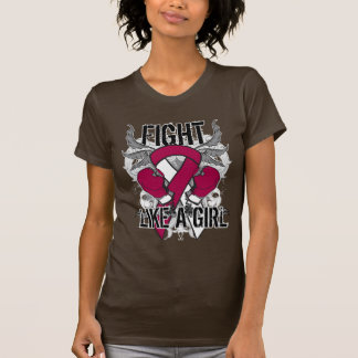 Throat Cancer Ultra Fight Like A Girl T Shirts