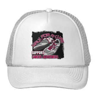 Throat Cancer Walk For A Cure Shoes Mesh Hats