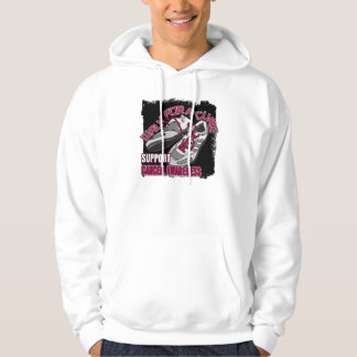 Throat Cancer Walk For A Cure Shoes Hooded Sweatshirt