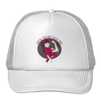 Throat Cancer We Can Do It (Asian Rosie) Hat