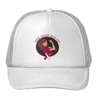 Throat Cancer We Can Do It (Rosie-L) Hats
