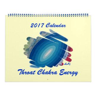 Throat Chakra 2017 Calendar Blue Huge Two Page
