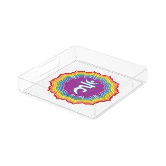 Throat chakra acrylic tray