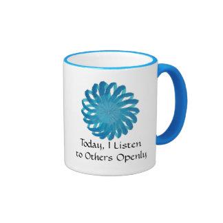 Throat Chakra Art #2- Self Expression Ringer Coffee Mug