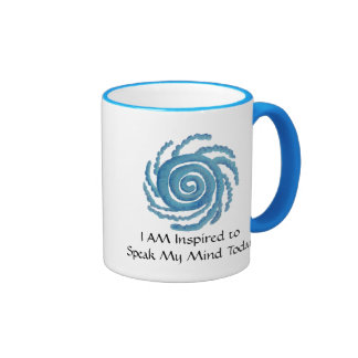 Throat Chakra Art- #3 - Self Expression Ringer Coffee Mug