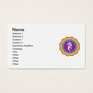 Throat chakra business card