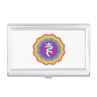 Throat chakra case for business cards