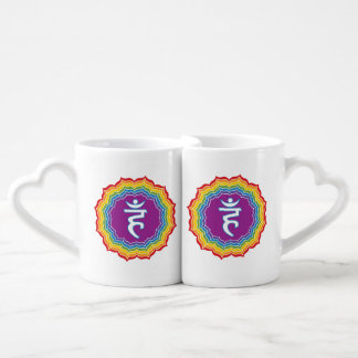Throat chakra coffee mug set