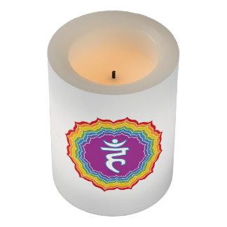 Throat chakra flameless candle