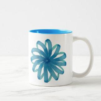 Throat Chakra Healing Art #1 Two-Tone Coffee Mug