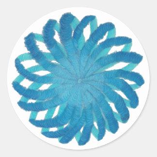Throat Chakra Healing Art #2 Classic Round Sticker