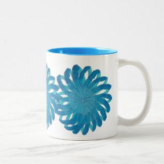Throat Chakra Healing Art #2 Two-Tone Coffee Mug