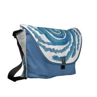 Throat Chakra Healing Art 3 Messenger Bags