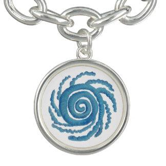Throat Chakra Healing Art #3 Bracelet