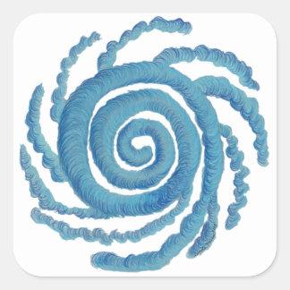 Throat Chakra Healing Art #3 Square Sticker