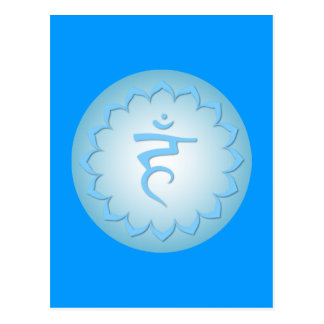 Throat Chakra - Light Blue Postcard