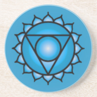 Throat Chakra Sandstone Drink Coaster