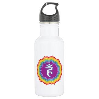 Throat chakra stainless steel water bottle