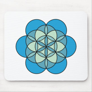 Throat Flower of Life Mouse Pad