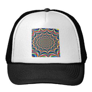 throbbing-fractal-optical illusion trucker hat