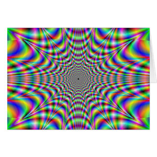 throbbing - optical illusion card