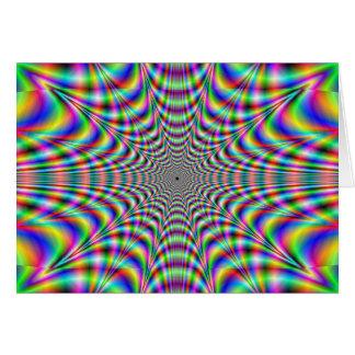 throbbing - optical illusion card
