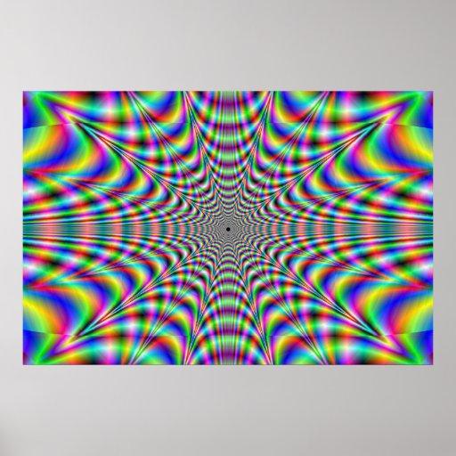 throbbing - optical illusion poster