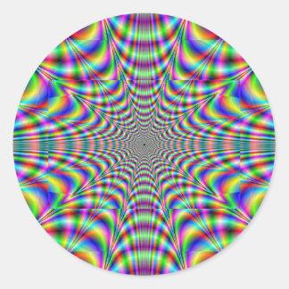 throbbing - optical illusion sticker